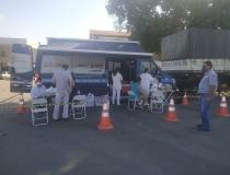 PRF realiza ação de vacinação de caminhoneiros,  através de parceria com SEST/SENAT e Secretaria Municipal de Saúde