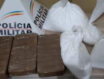 PM apreende drogas em ônibus que fazia a linha Uberlândia/Belo Horizonte