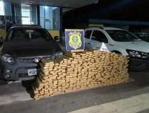 PRF e PMMG realizam apreensão de 521 kg de maconha na BR-262  próximo a Araxá