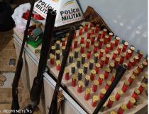 Polícia Militar apreende armas e munições em Araxá