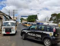 Polícia Civil bloqueia 33 veículos em nova fase da Operação Malebolge