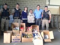 37º BPM e parceiros realizam entrega de alimentos arrecadados na Semana Nacional de Prevenção às Drogas em Araxá