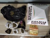 Homem é preso por suspeita de tráfico de drogas no Bairro Salomão Drummond