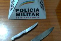 POLÍCIA MILITAR APREENDE ARMAS BRANCAS EM ARAXÁ/MG